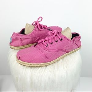 Toms   Espadrille Canvas Pink Sneakers